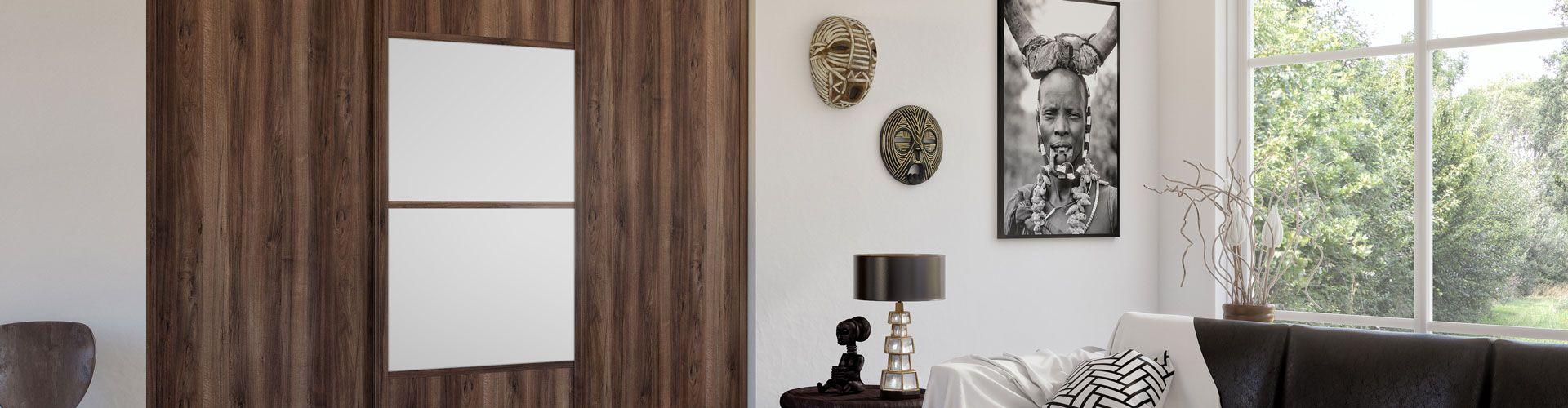 portes de placard coulissantes d co ethnique kazed. Black Bedroom Furniture Sets. Home Design Ideas