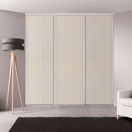 fa ade de placard coulissante 3 portes miroir argent kazed. Black Bedroom Furniture Sets. Home Design Ideas