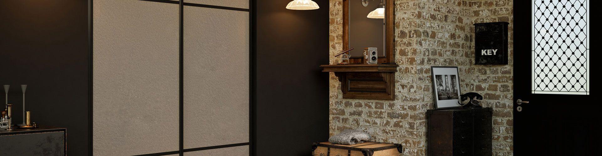 portes de placard beiges kazed. Black Bedroom Furniture Sets. Home Design Ideas