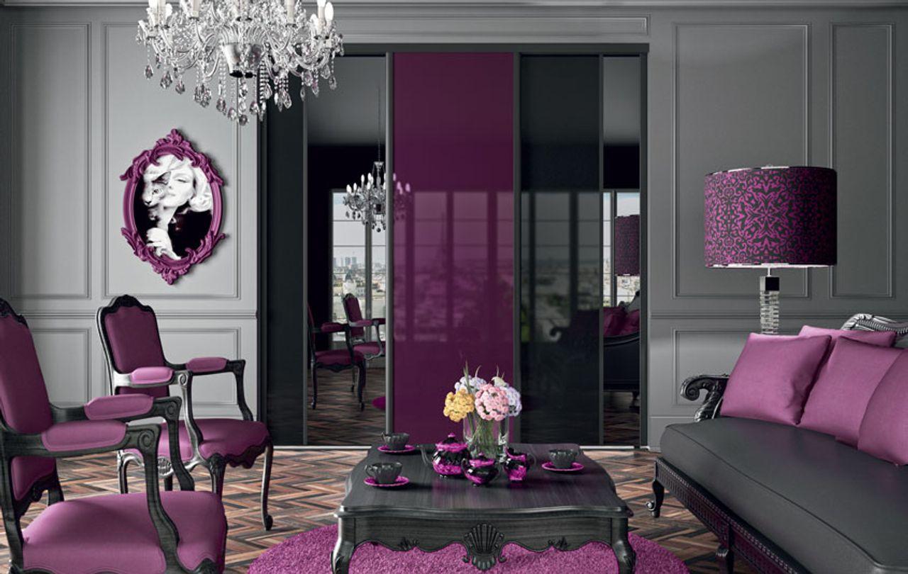 portes de placard style ultraviolet kazed. Black Bedroom Furniture Sets. Home Design Ideas