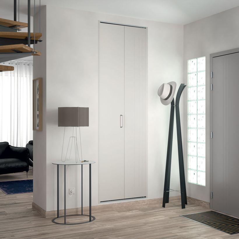 Façade 1 porte pliante métal trio laqué blanc H2420 mm x L775 mm